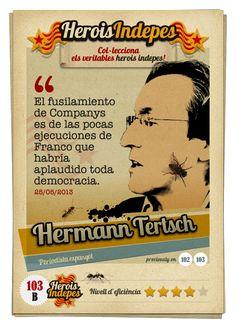 """#HeroisIndepes 103-B. Hermann Tertsch: """"El fusilamiento de Companys es de las pocas ejecuciones de Franco que habría aplaudido toda democracia."""""""