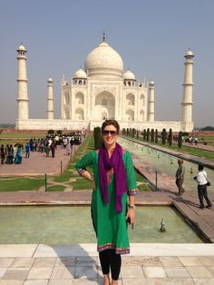 Gabi Cordes no Taj Mahal