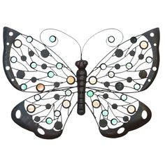 Butterfly 424 A metal butterfly, accented by colored glass.  $25.99