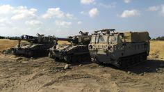 M109 on Golan Heights 2016