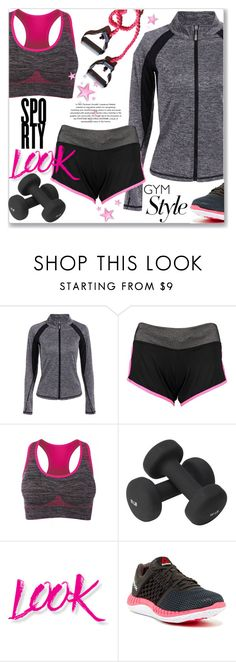 """""""Sporty Look"""" by jecakns ❤ liked on Polyvore featuring Valeo, NYX, Reebok, shorts, sport, gymstyle, zaful and activewomen"""