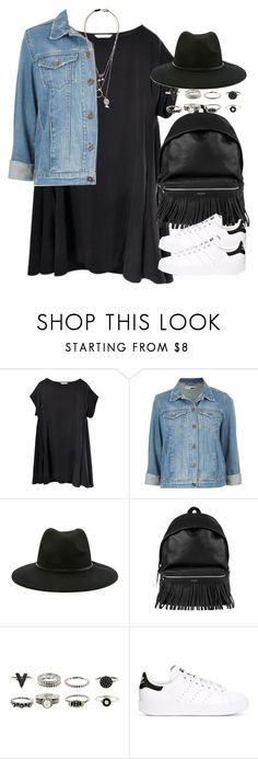 """Sin título #3953"" by hellomissapple on Polyvore featuring moda, Topshop, Forever 21, Yves Saint Laurent, adidas Originals y Maison Margiela"