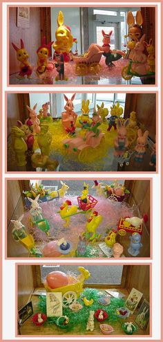 Vintage Easter Toys. Check these out @Carolyn Rafaelian Livingston   I know you have some of these :)