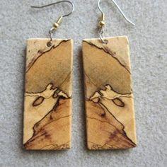 Wooden Necklace, Wooden Earrings, Wooden Jewelry, Leather Jewelry, Earrings Handmade, Dangle Earrings, Bead Jewellery, Resin Jewelry, Jewelry Crafts