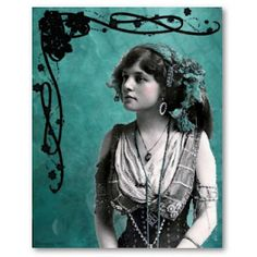 Gypsy woman  vintage illustration
