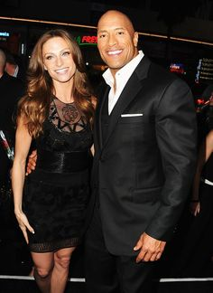 "Dwayne ""The Rock"" Johnson with girlfriend Lauren..."