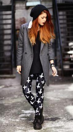 blackmilkclothing:    http://blackmilkclothing.com/products/cross-of-st-peter-black-leggings