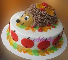 cute Hedgehog cake by sweetspiriteva Cakes To Make, Fancy Cakes, Cute Cakes, How To Make Cake, Cake Icing, Fondant Cakes, Cupcake Cakes, Enchanted Forest Cake, Sonic The Hedgehog Cake