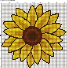 Sunflower free cross stitch pattern