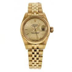 Vintage Ladies Rolex DateJust 26mm 6917 in 18K Yellow Gold Automatic Watch #Rolex #LuxurySportStyles