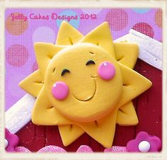 Make out of playdoh and add madnic to the back Sunshine Cupcakes, Sunshine Cake, Sunshine Birthday, 2 Birthday Cake, Birthday Treats, Deco Cupcake, Cupcake Cakes, Teletubbies Cake, Sun Cake