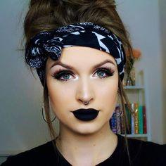 Best Of The Best Makeup Ideas In This year. Beste der besten Make-up-Ideen in diesem Jahr. Beauty Make-up, Fashion Beauty, Beauty Hacks, Hair Beauty, Rock Makeup, Eye Makeup, Hair Makeup, Black Lipstick Makeup, Make Up Looks