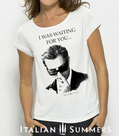 T-shirt with italian print Marcello by Italian Summers. Design Lisa van de Pol and Claudio Assandri