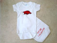 Future Tailgater Arkansas Razorback Three Piece Baby Gift Set