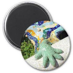 "Sold this ""Fractal hand - Cool magnet"" to France!! MERCI - Thanks :) #lizard #Gaudi #Barcelona #mosaics"