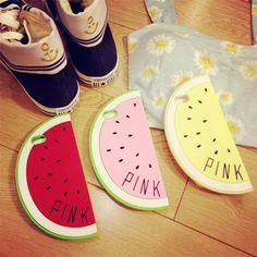 西瓜手機殼 iphone矽膠殼 Pink soft case 歐美訂單出口潮牌