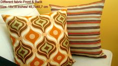 Psychedelic and stripe 18x18 pillow cover  Sofa cushion by SABDECO, €26.00
