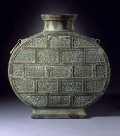 Wine Flask (Bianhu) with Spirals and Volutes, China, Late Eastern Zhou dynasty, middle or late Warring States period, about 400-221 B.C. Los Angeles County Museum of Art, Currently not on view