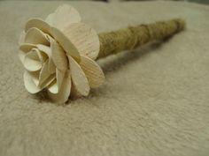 Burlap wrapped guestbook pen