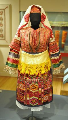 Wedding Costume Macedonia    .This wedding costume comes from Debarsko Pole, Macedonia. It is included in a wonderful exhibition at the Museum of International Folk Art in Santa Fe, New Mexico