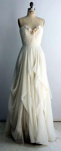 Leanne Marshall Silk Chiffon Wedding Dress