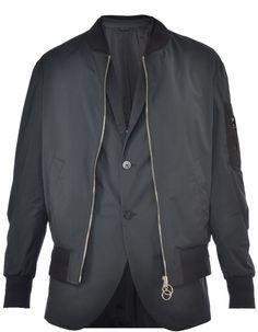 Neil Barrett Bomber Jacket With Internal Waist Coat