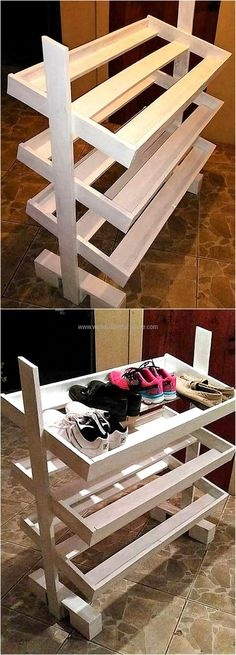 pallets made shoe rack