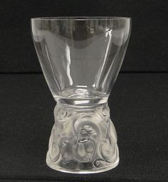 Made by Rene Lalique Crystal 5128 Marienthal Glass Clear Glasses Tumbler 1927  #Lalique #crystal 0607-7
