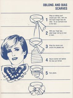 236 Vintage: How to Tie a Scarf. Pretty sure my mom had this little book :) - Gale H. Ways To Tie Scarves, Ways To Wear A Scarf, How To Wear Scarves, Scarf Jewelry, Fabric Jewelry, Diy Vintage, Vintage Hats, Head Scarf Tying, Scarf Knots