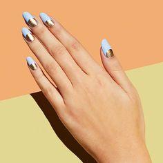 metallic halo nails