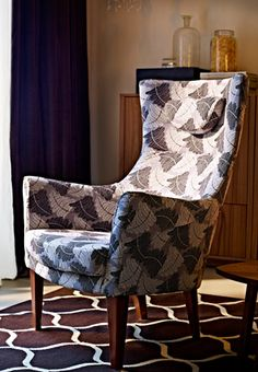 STOCKHOLM armchair high back in Mosta grey, by IKEA