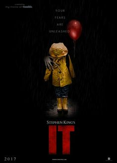 It Horror Thriller. Looking forward to this. In a small town in Maine, seven children known as The Losers Club come face to face with life problems, bullies and a monster that takes the shape of a clown called Pennywise. Horror Movie Posters, Best Horror Movies, Scary Movies, Good Movies, Horror Books, Halloween Movies, Halloween Horror, Art It, Es Pennywise