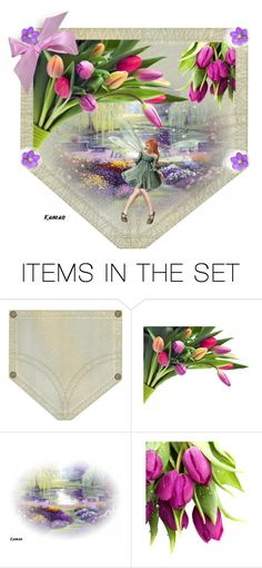 """""""Pocket Full of Posies"""" by kari-c ❤ liked on Polyvore featuring art"""