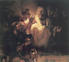 PETER DENIES CHRIST 1660 oil on canvas 154 x 169 cm. Rijksmuseum, Amsterdam