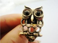 Fashion Hollows Owl Vintage Ring on BuyTrends.com, only price $2.10