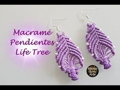 DIY Tutorial Macrame Pendientes Life Tree - YouTube