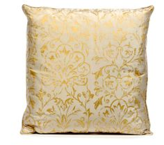 Printed Gold Cushion Cover in Pale Grey