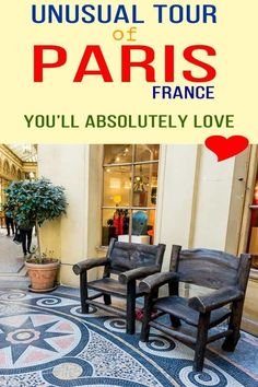 """This self guided walking tour of the """"passages couverts Paris"""" takes you through lovely quartiers of Paris. Find out how to spend one lovely day in Paris Paris Travel Guide, Europe Travel Tips, Travel Guides, Travel Destinations, Backpacking Europe, Travelling Tips, Travel Hacks, Vintage Paris, Romantic Paris"""