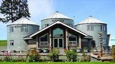 Three grain Silos converted into home   https://www.facebook.com/diygardeningbetterliving/photos/a.186864734820945.1073741828.186857668154985/381681578672592/?type=1