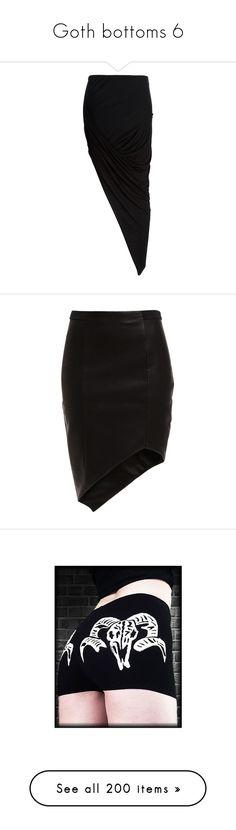 """Goth bottoms 6"" by morbid-octobur ❤ liked on Polyvore featuring skirts, bottoms, maxi skirts, saias, long draped skirt, nylon skirt, elastic waist skirt, long jersey skirt, jersey skirt and black"