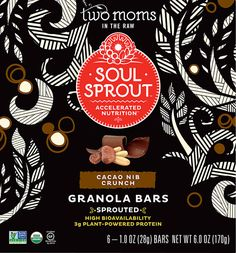 Two Moms in the Raw Soul Sprout Organic Granola Bars Gluten Free Cacao Nib Crunch $6.39 on VITACOST
