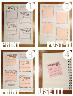 Love this free printable for post-it notes!!  I'm getting the folifax fever :-)  LimeTreeFruits.com // Self-Care Post-its