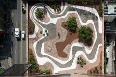 Roberto Burle Marx, mineral roof garden, Banco Safra headquarters, São Paulo, 1983 ***DIREITOS RESERVADOS. NÃO PUBLICAR SEM AUTORIZAÇÃO DO DETENTOR DOS DIREITOS AUTORAIS E DE IMAGEM***