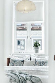 #Grunerløkka #oslo #norway #bedroom #linen #marimekko #meriheinä #scandinavian Marimekko, Oslo, Linen Bedding, Real Estate, Sleep, Curtains, Bedroom, Norway, Scandinavian