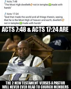 The blind will always lead the blindblind and dumb pastors=dumb and blind members.