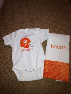 Baby Onesie and Burp Cloth Gift Set by WilderInspirations on Etsy, $35.00