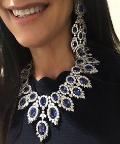 @bijancoinc sapphires and diamonds on our very own @the_diamonds_girl ! #bijancoinc #TheDiamondsGirl #BaselWorld2016 #basel2016 #luxuryjewelleryevents #Luxury #diamond