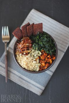 Roasted Fall Veggie Bowl {Beard and Bonnet} #glutenfree #vegan