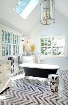 Quick Bathroom Updates: It takes very little to dress up an uninspired bathroom. Add some fresh color, replace the hardware or add a new light fixture and you've got a whole new look.