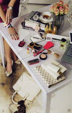 Glamorous desk space